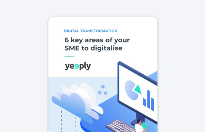 6 key areas of your sme to digitalise e-book cover of yeeply