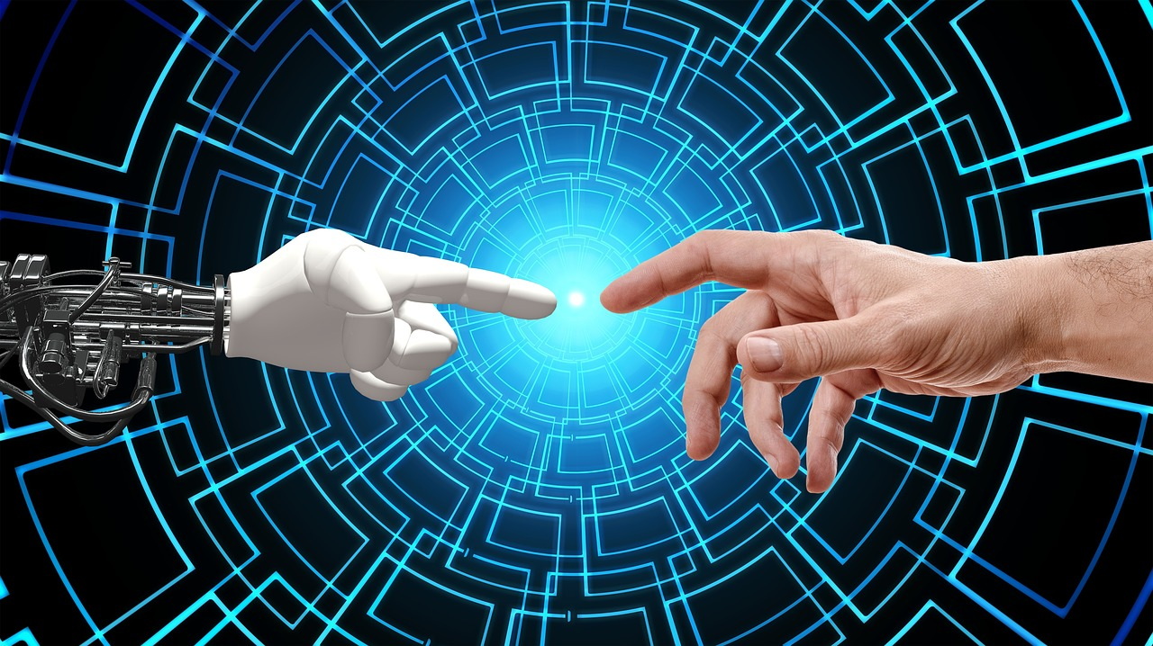 hand and robot touching
